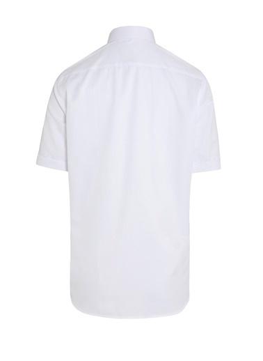 Hatemoğlu Kısa Kol Desenli Gömlek Beyaz